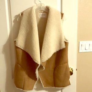 Faux Shearling 2 pocket Vest